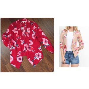 💕2/$85💕 Red Floral Blazer